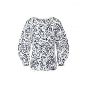 Пуловер из смеси вискозы и хлопка Chloé. Цвет: синий