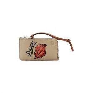 Кожаный футляр для кредитных карт x Paulas Ibiza Loewe. Цвет: белый
