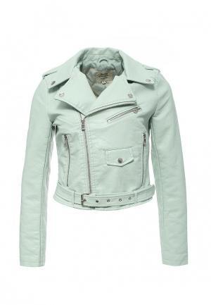 Куртка кожаная Softy SO017EWROZ52. Цвет: мятный