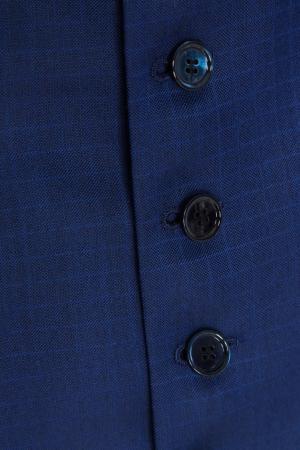 Костюм-тройка из шерсти и кашемира Stefano Ricci. Цвет: синий