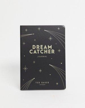 Блокнот с надписью dream catcher -Черный Ted Baker