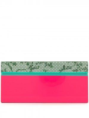 Маленькая лакированная шкатулка с узором Shanghai Tang. Цвет: зеленый