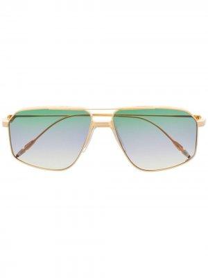 Солнцезащитные очки в квадратной оправе с эффектом градиента Jacques Marie Mage. Цвет: золотистый
