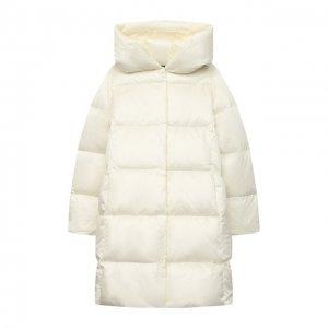 Пуховое пальто Polo Ralph Lauren. Цвет: белый