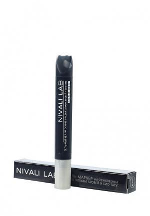 Гель для бровей Nivali с хной (черный). Цвет: черный