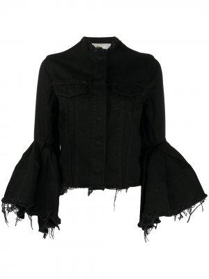 MarquesAlmeida джинсовая куртка с бахромой Marques'Almeida. Цвет: черный