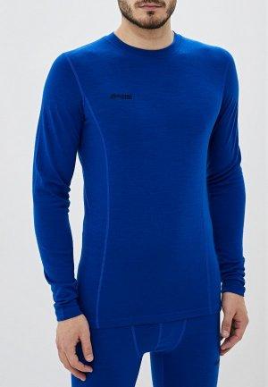 Термобелье верх Bergans of Norway Akeleie Shirt. Цвет: синий