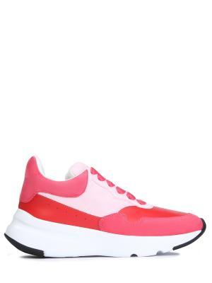 Комбинированные кроссовки A.MCQUEEN. Цвет: красный