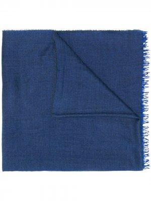 Шарф тонкой вязки Begg & Co. Цвет: синий