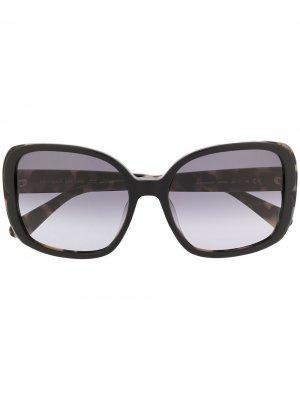 Солнцезащитные очки Elianna в массивной оправе Kate Spade. Цвет: черный