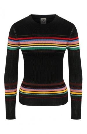 Пуловер из смеси вискозы и хлопка M Missoni. Цвет: темно-синий