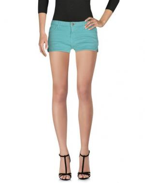 Джинсовые шорты ACQUAVERDE. Цвет: светло-зеленый