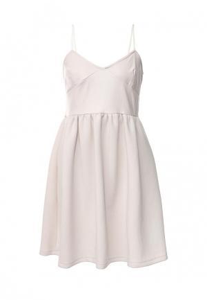 Платье Atos Lombardini AT009EWKFC15. Цвет: бежевый