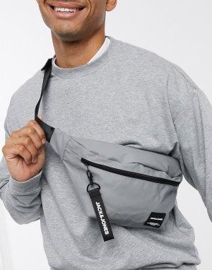 Серая сумка-кошелек на пояс -Серый Jack & Jones