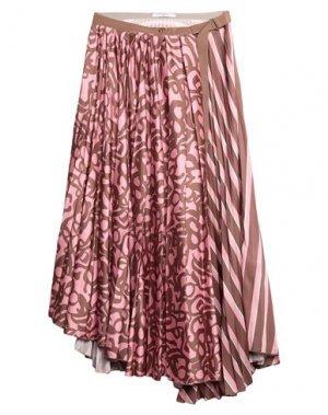 Юбка длиной 3/4 BEATRICE. Цвет: розовый