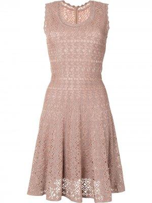 Расклешенное платье Alaïa Pre-Owned. Цвет: розовый