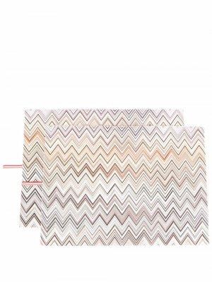 Набор ковриков с узором зигзаг Missoni Home. Цвет: нейтральные цвета