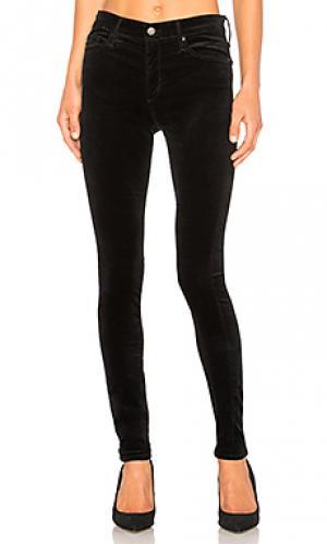 Бархатные джинсы скинни farrah AG Adriano Goldschmied. Цвет: черный