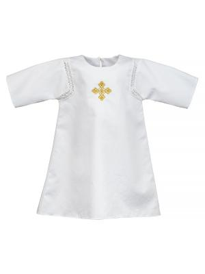 Крестильная рубашка Ангел мой. Цвет: белый, золотистый