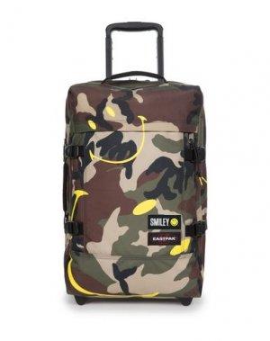Чемодан/сумка на колесиках EASTPAK. Цвет: зеленый-милитари