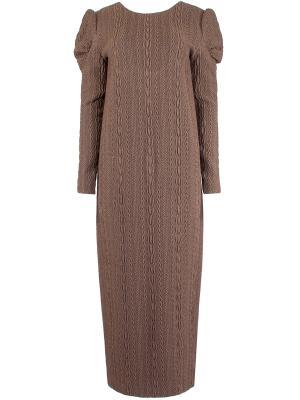 Прямое длинное платье A LA RUSSE. Цвет: коричневый
