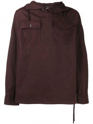 Куртка с капюшоном CP Company. Цвет: красный