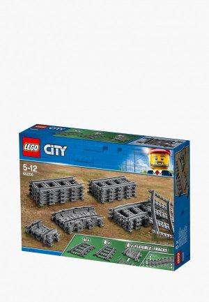 Конструктор LEGO City 60205 Рельсы. Цвет: серый