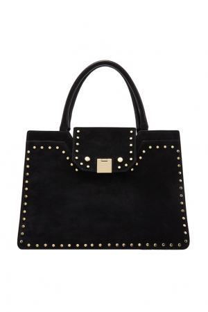Черная замшевая сумка-тоут Rebel Jimmy Choo. Цвет: черный