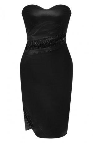 Кожаное платье Philipp Plein. Цвет: чёрный