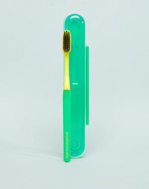 Зеленая зубная щетка с древесным углем -Бесцветный Anatomicals