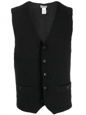 Плиссированный жилет Issey Miyake Pre-Owned. Цвет: черный