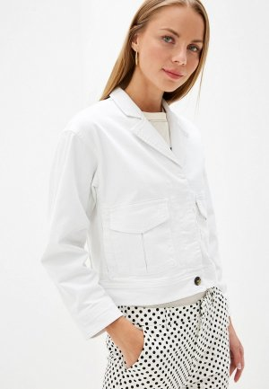Куртка джинсовая Selected Femme. Цвет: белый
