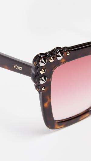 Thick Frame Square Sunglasses Fendi