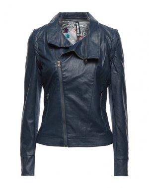 Куртка DESIGUAL. Цвет: темно-синий