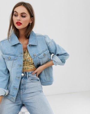 Светло-голубая джинсовая куртка -Синий Brave Soul