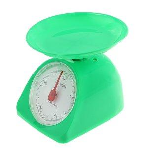 Весы кухонные luazon lvkm-502, механические, до 5 кг, чаша 200 мл, зелёные Home