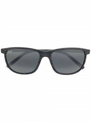 Солнцезащитные очки в оправе кошачий глаз Maui Jim. Цвет: серый