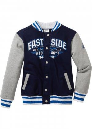Куртка трикотажная bonprix. Цвет: синий