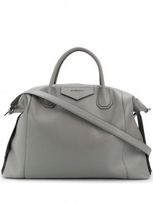 Большая сумка-тоут Antigona Givenchy. Цвет: серый