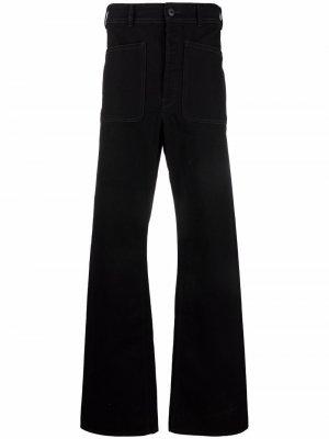 Расклешенные джинсы с завышенной талией Lemaire. Цвет: черный