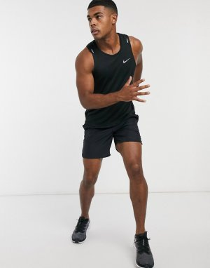 Черная майка Miler-Черный Nike Running