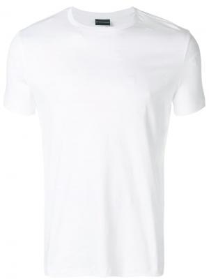 Однотонная футболка Emporio Armani