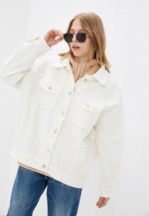 Куртка джинсовая Krismarin. Цвет: белый