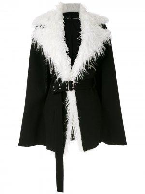 Пальто оверсайз Gloria Coelho. Цвет: черный