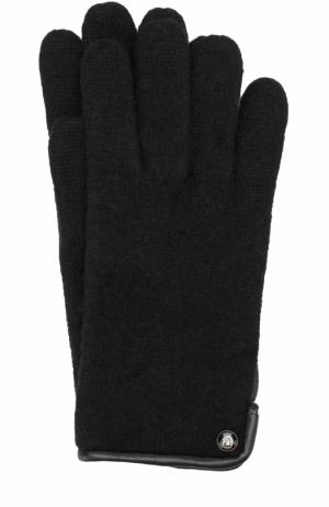 Шерстяные перчатки Roeckl. Цвет: черный