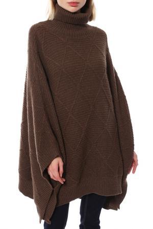 Пончо Mir cashmere. Цвет: коричневый