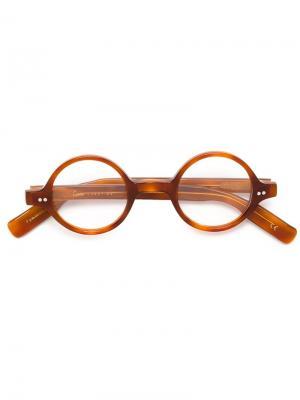 Очки и Оправы Lesca. Цвет: коричневый
