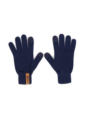 Перчатки Just Cavalli (Италия) O9200 533C. Цвет: темно-синий