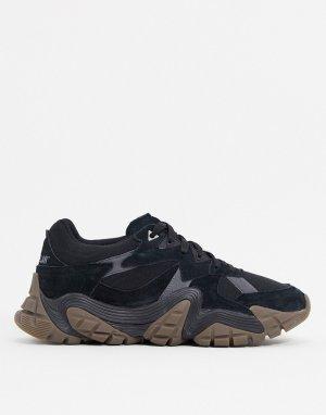Черные кроссовки на массивной резиновой подошве CAT-Черный Cat Footwear