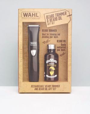 Подарочный набор с электрическим триммером и маслом для бороды -Бесцветный Wahl